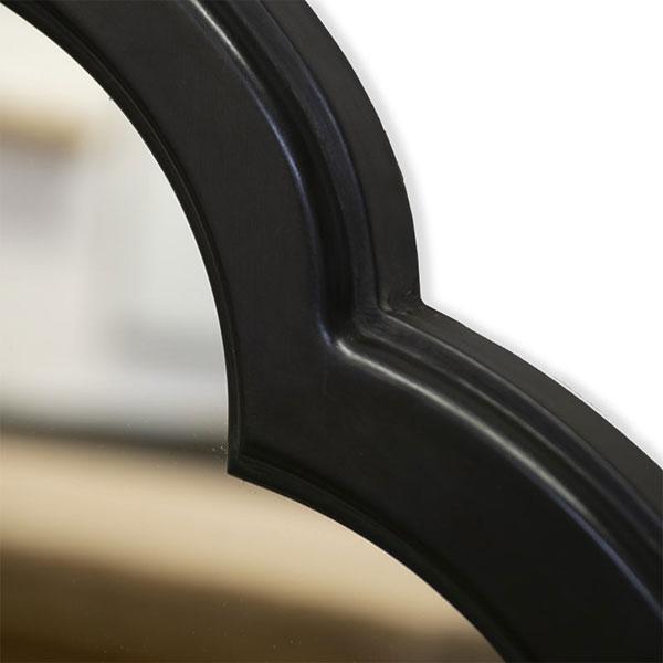 Polished Black Painted Frame