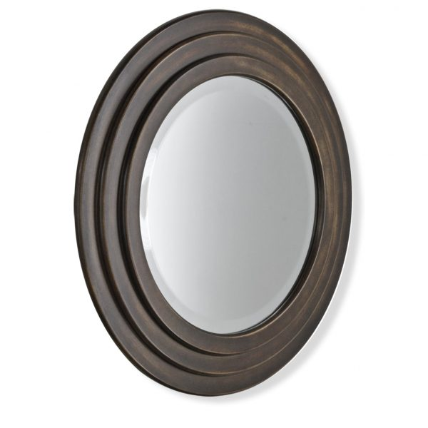 Chailey Round Mirror in Bronze - Patrick Ireland Mirrors