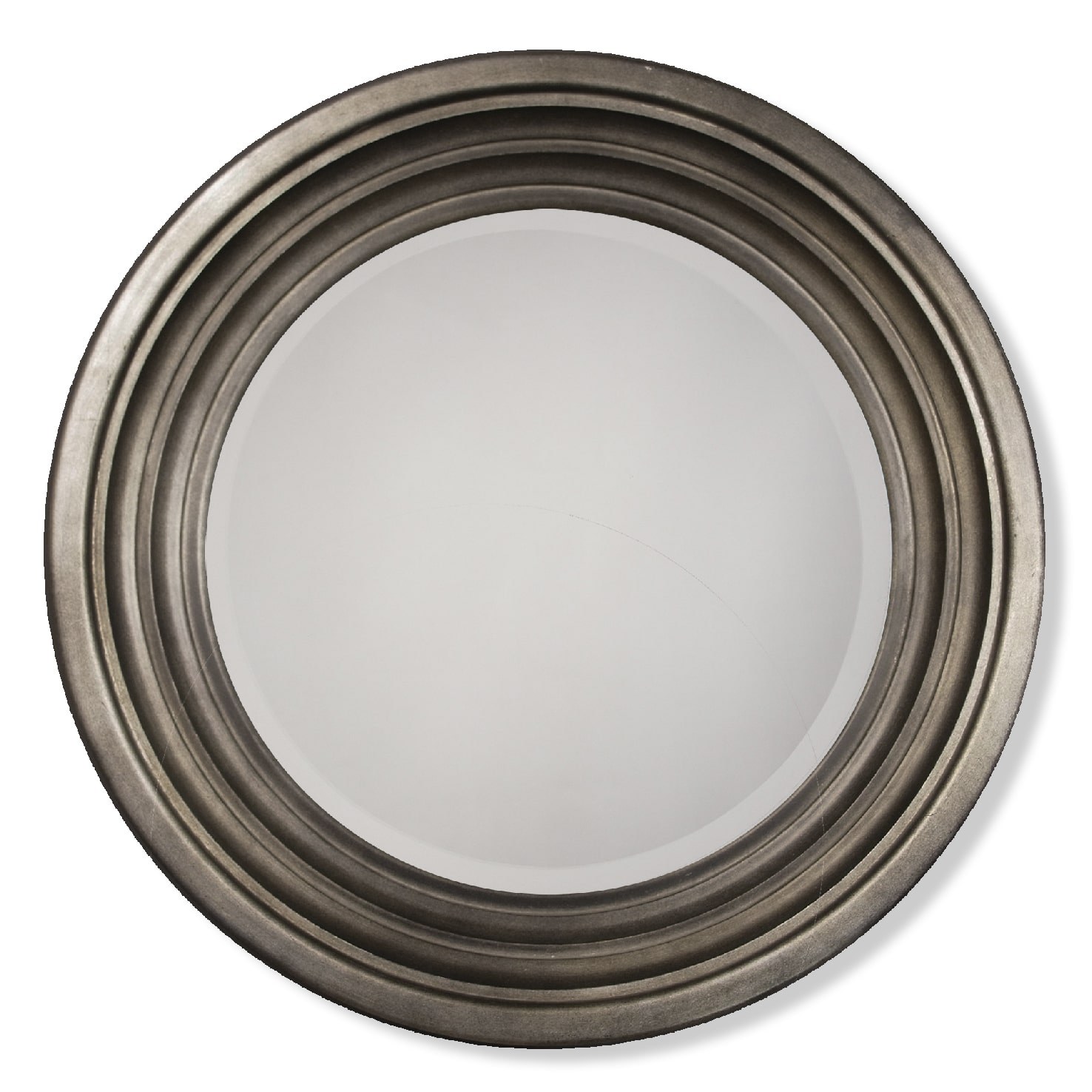 Berwick Round Mirror in Pewter