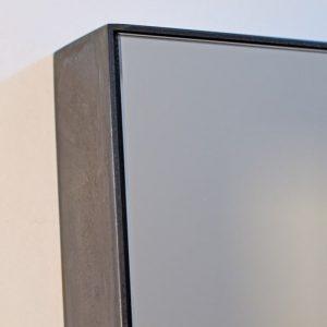 Blackened Steel Mirror Frame