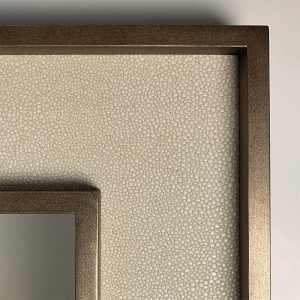 Brass and Faux Shagreen Frame Corner