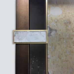 Brass, bronze and Vincenzo mirror glass