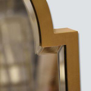Brass Shaped Mirror