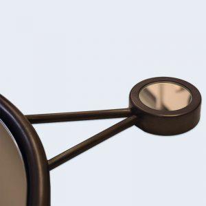 Dark Bronze Mirror Hook Detail