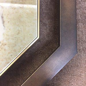 Bronze Outer frame with slim inner frame in brass