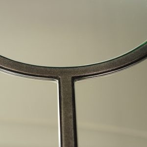 Pewter shaped mirror detail