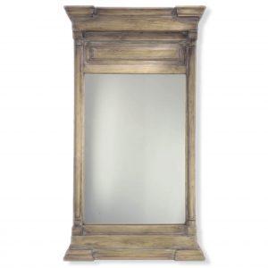 Antiqued Pine Trumeau Mirror