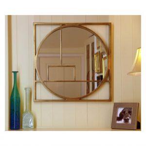 Art Deco Mirror in Gold