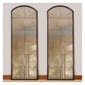 Beaten Bronze Archtop Mirrors