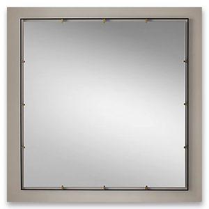 Bespoke Bathroom Mirror with metal clips