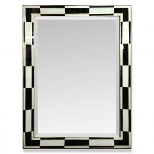 Black and White Eglomise Art Deco Frame