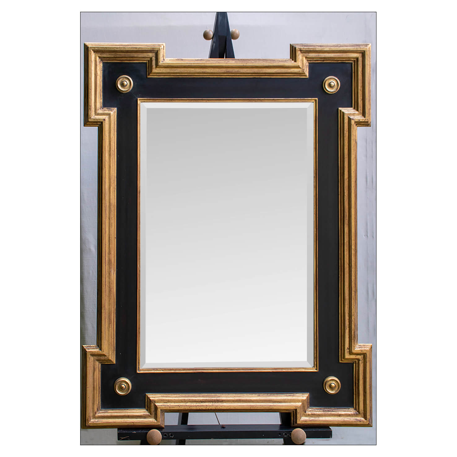 Bolney Black and Gold Framed Mirror