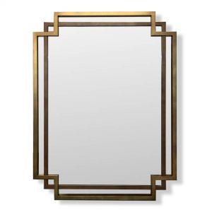 Brass and Bronze Geometric Bespoke Mirror