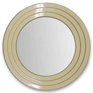 Chailey Mirror in Lime White and Blue Grey Lacquer