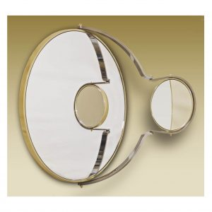 Double Vanity Polished Brass Mirror