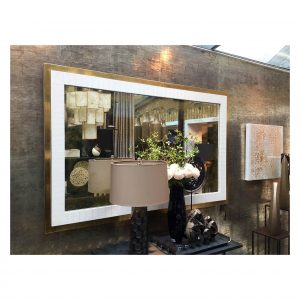 Gold Leaf and Cracked Gesso Mirror
