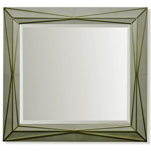 Parchment Mirror Frame with Brass Banding