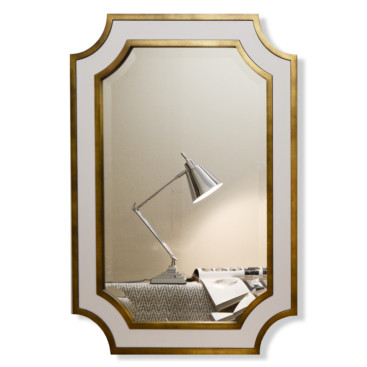 Scallop Cornered Mirror Frame