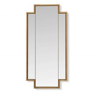 Triple Panelled Mirror in Gilver Frame