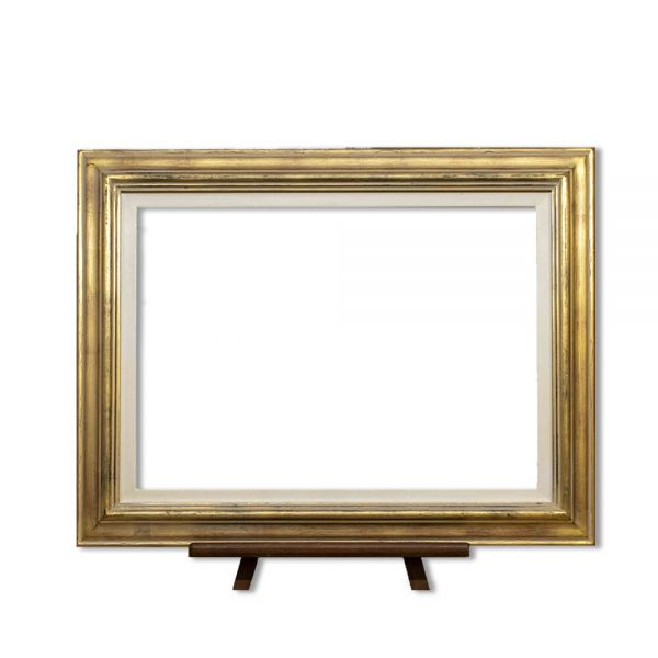 Frame PW112/A224 finished in antique gold and gesso