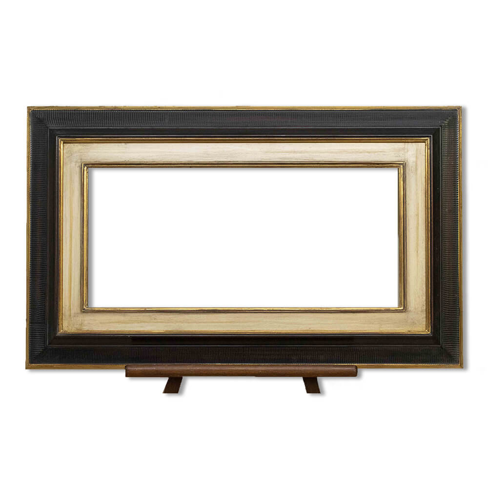 Frame PW7Combed/Pw12 in finish 21 with aged gesso slip