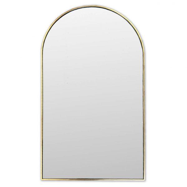 Gold Metal Leaf Archtop Mirror