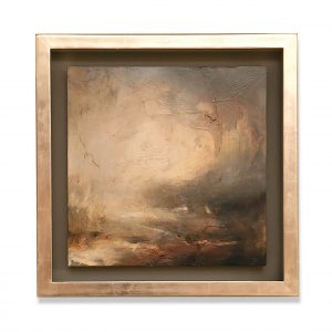 Mark Johnson panel in Moongold leaf tray frame
