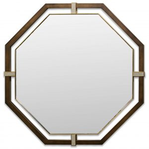 Bronze finished octagon with brass detail