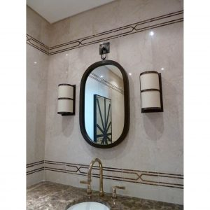 Oval Mirror with hook