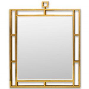 Contemporary Gold Mirror