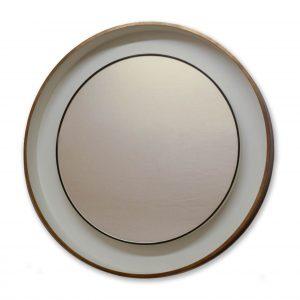 Bespoke raised mirror in tray frame